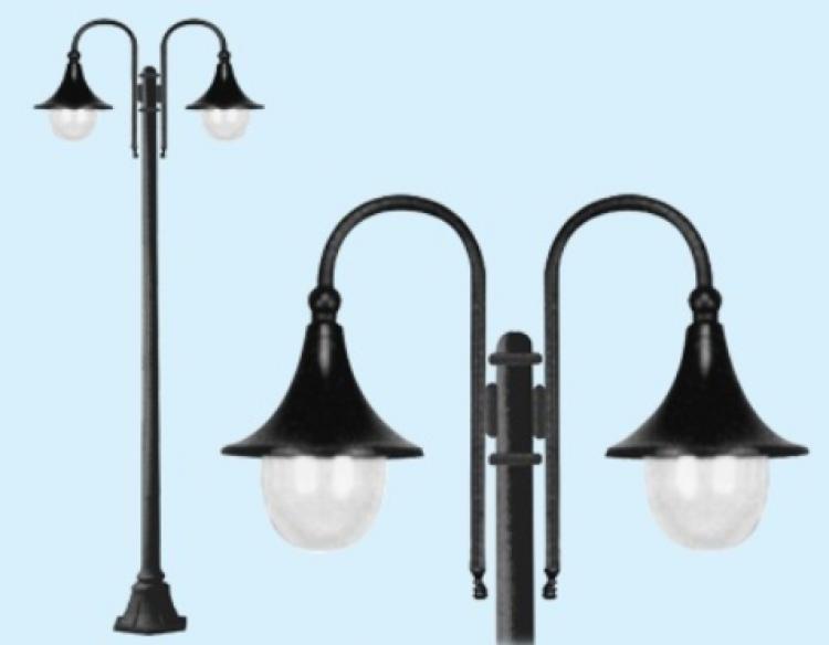 Lampade per esterno su palo: illuminazione giardino a luci led da